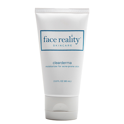 Clearderma is a soothing moisturizer that offers antioxidant support for acne-prone skin.