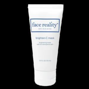 Face Reality Brighten-C Mask to brighten skin.