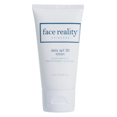 Face Reality Daily SPF 30 Lotion for best sun protection.
