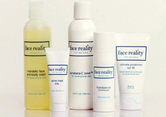 Treat acne with these Face Reality products.