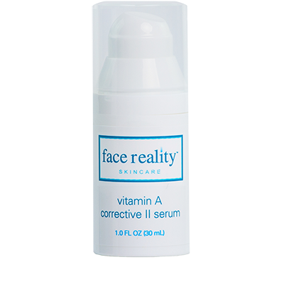 Vitamin A Corrective II Serum delivers a high potency Retinol (0.5%) to help clear acne.