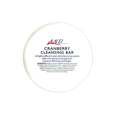 Cranberry cleansing bar leaves skin smooth and refined
