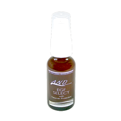 EGF Select serum in .5oz bottle is acne safe.