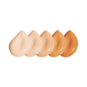 Foundation colors from light to dark.