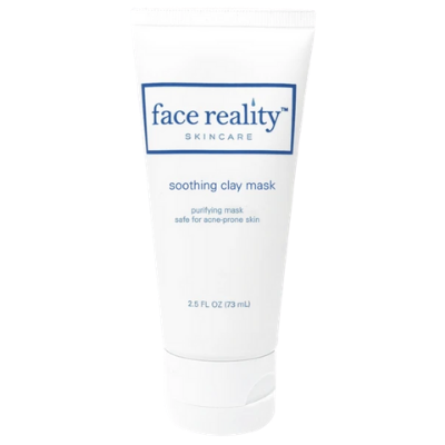 Face Reality soothing clay mask improves the appearance of dullness.
